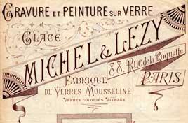 Michel et lezy Peinture sur verre paris
