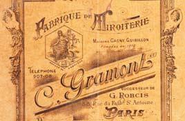 Miroitier C Gramont Paris 1913