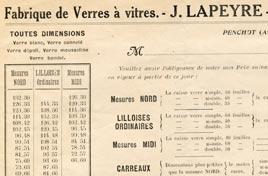 Fabrique de Verres à vitres à Penchot Aveyron.