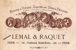 Entête lémal et Raquet Paris 1900