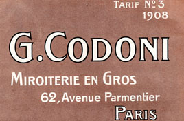 Catalogue Miroiterie Codoni 1908