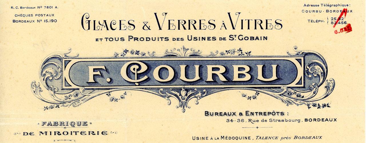 Miroiterie Courbu 1930 Bordeaux