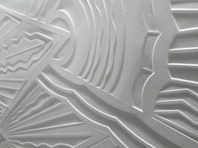 panneau art deco gravure au jet de sable