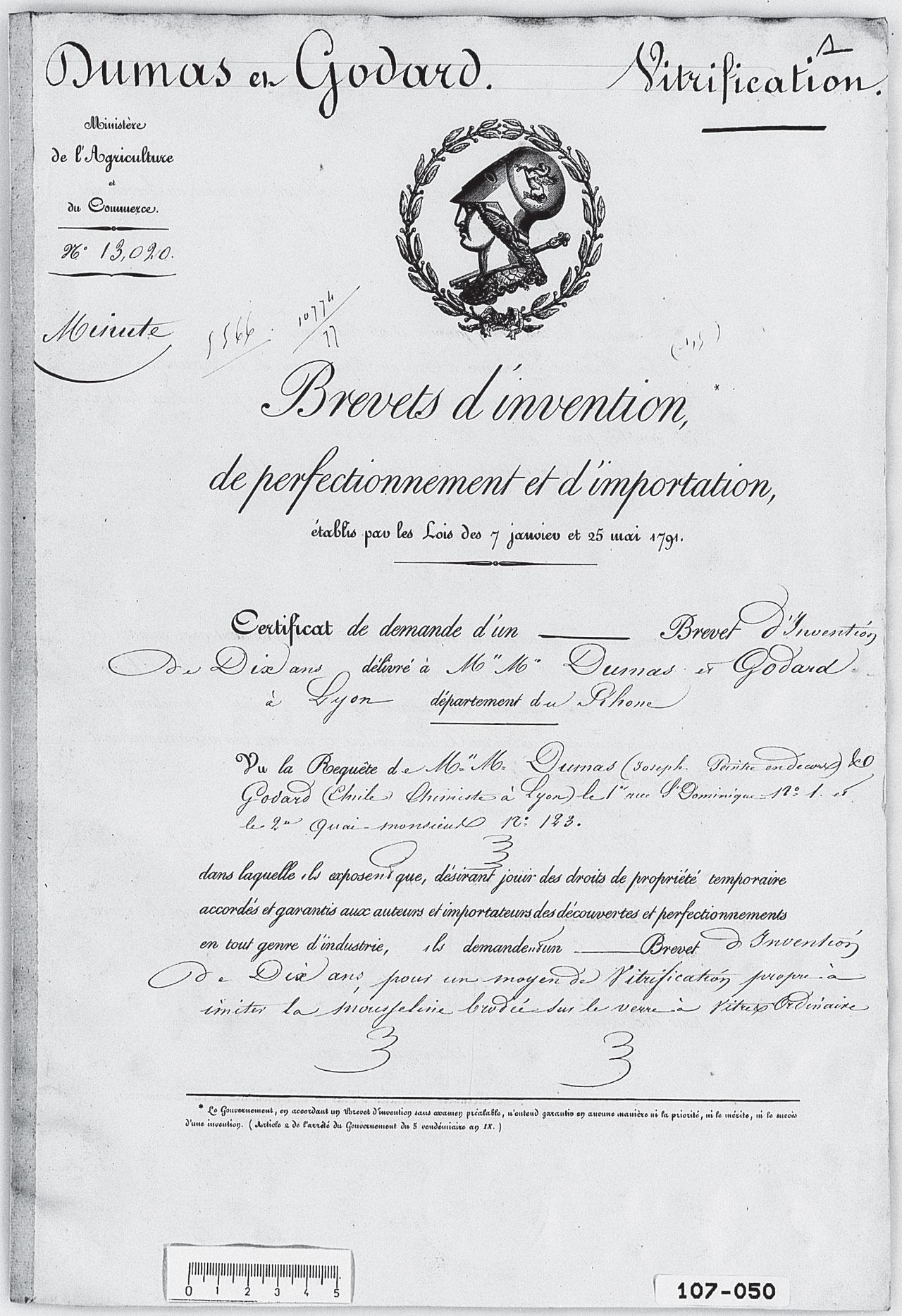 Brevet Dumas et Godard 1842 Partie 1