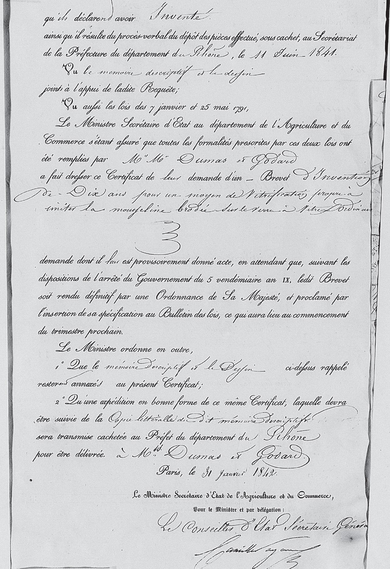 Brevet Dumas et Godard 1842 Partie 2