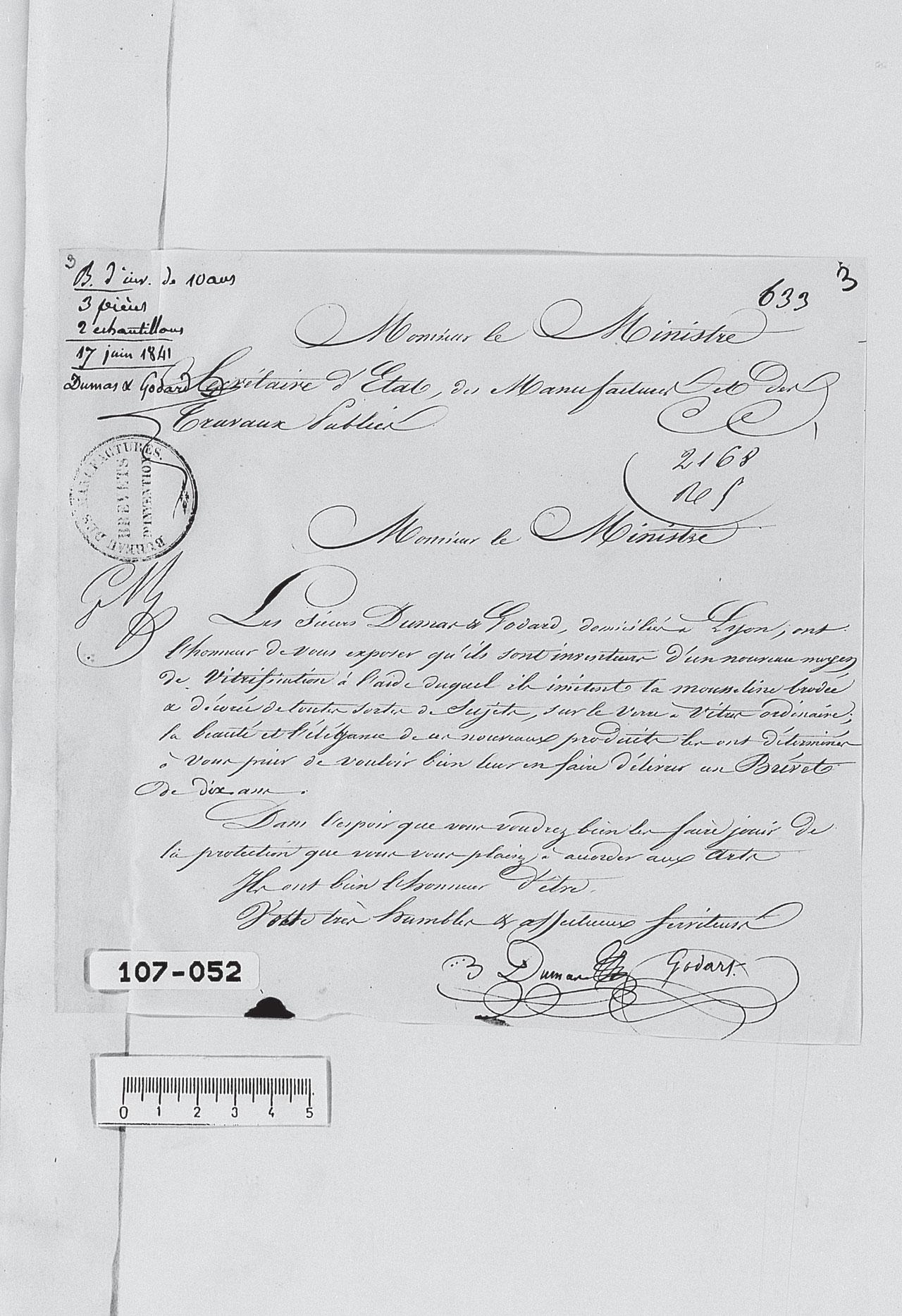 Brevet Dumas et Godard 1842 Partie 3
