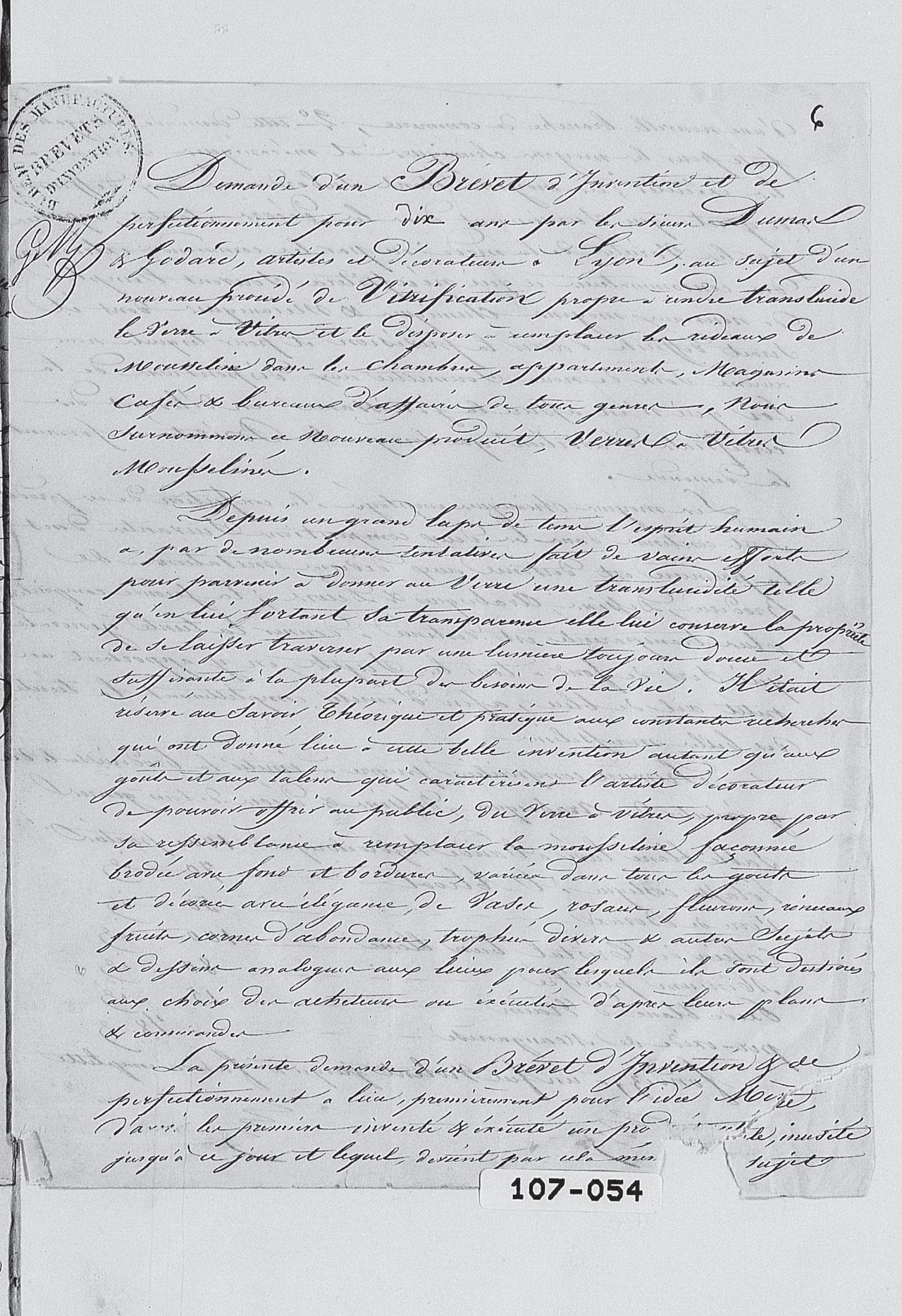 Brevet Dumas et Godard 1842 Partie 6