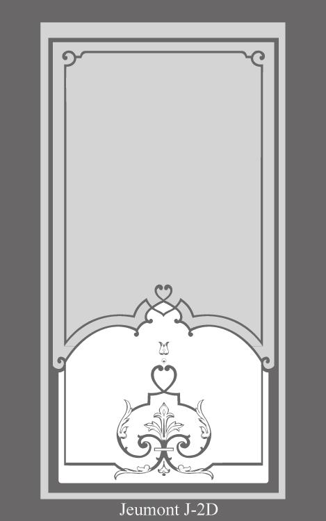 vitrine 1900 avec decor